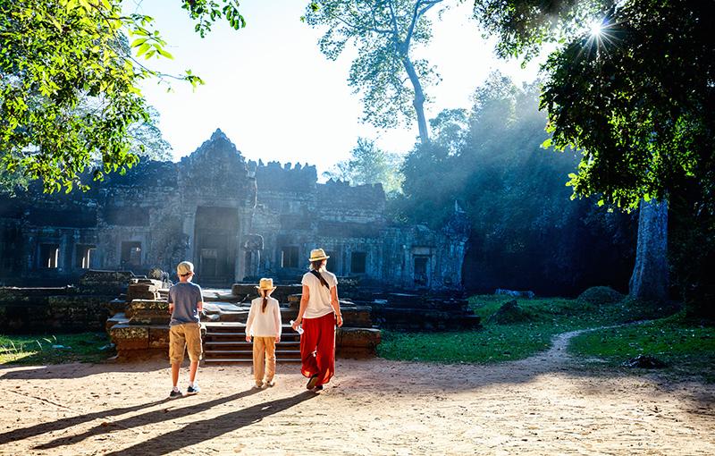 Familiereis CAMBODJA CULTUUR & STRAND - 15 dagen; Angkor Wat en tropisch eiland